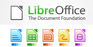 The LibreOffice logo, with its services below